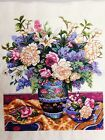 New Finished Completed Cross Stitch Classical vases &flowers freeshipping to USA