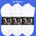 12 pairs Men Women Sport Anklet Low Cut SOCKS White ATHLETIC Cotton 9-11 / 10-13