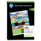 HP 940XL Cyan, Magenta & Yellow Original Printer Ink Cartridges & Brochure Pack