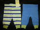 BNWT 2 PAIR BABY BOY LEGGINGS STRIPES & STEEL BLUE CHOOSE 0000 000 NEW