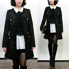 Coco Gold Pearl Button Classic Tweed Coat/2Color/US XS~US M/Korean Fashion