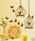 Butterflys With Birdcage Graphics Home Decor,Wall Art Stickers,Wall Decals w83