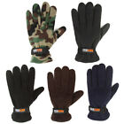 Black Navy Brown Army Mens Polar Fleece Thermal lining Cold Winter Thick Gloves