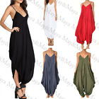 Spaghetti Strap V Neckline All In One Beach Jumpsuit Playsuit for Women Girl