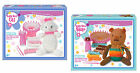 KIDS KNITTING KIT CHILDRENS CRAFT SET CAT TEDDY BEAR KNIT A EASY ARTS WOOL GIFT