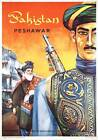 Peshawar, Pakistan. Vintage Government of Tourism Travel poster art print. 1963