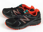 New Balance NB MT490BK2 2E Breathable Sports Trail Running Black/Orange Sneakers