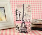 2Colors eiffel tower Love story Leather Cover Case For Various Mobile phones