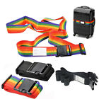 2Pcs Luggage Straps Suitcase Protect Belt Easy Adjustable Buckle Strap Name Tag