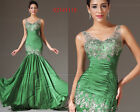 eDressit 2014 Stunning Green V-Neck Lace Top Evening Prom Gown  US 4-18 02141118