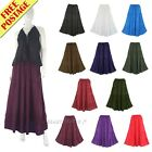 Women BOHO Gypsy Long Maxi Tiered Skirt 6 8 12 14 16 18 S M L XL