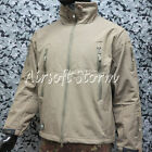 5 Sizes Available Stealth Hoodie Shark Skin Soft Shell Waterproof Jacket Tan