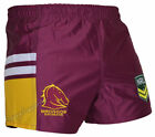 Brisbane Broncos Shorts Sizes S-4XL BNWT Footy NRL