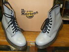 DR. MARTENS GREY MILLED SMOOTH LEATHER 1460 8 EYELET BOOTS Sizes 7,8,9,11,12,13