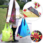 LOTS Strawberry Foldable Storage Eco Friendly Reusable Shopping Tote Bag Grocery