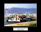 Ayrton Senna & Nigel Mansell Hungary 1992 Mounted Photo Compilation Sport Gift