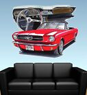 1965 Mustang Convertible  WALL GRAPHIC DECAL MAN CAVE MURAL PRINT 7070 FORD NWT