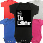 Cot father Funny Slogan Boys Girls Baby grow Vest Body Suit Romper Newborn Gift