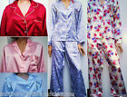 Luxury Nightwear Silk Style Polycotton Pyjamas Smooth Cuddle Skin Lined 12 to 22