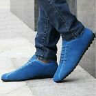 Mens Winter Gommino Casual Suede British Style Fur Neri Lace-up Pure Flats Shoes