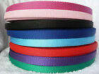"2m 5/8"" 16mm Polypropylene Webbing Black Red Pink Green Blue Purple and others"