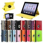 For The New iPad 4 4G Gen 3 3rd 2 360 Rotating Magnetic Leather Case Smart Cover