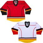 Calgary Flames Hockey Jersey  NHL Style Replica colors  NO LOGO DJ300 $32.06 USD on eBay