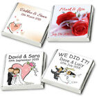 50 PERSONALISED CHOCOLATE FAVOURS  *PRE-WRAPPED*  *PREMIUM QUALITY & SERVICE*