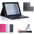 Black Stand Leather Case Cover With Bluetooth Keyboard For Apple iPad 2 3 4 Gen