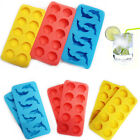 New 2Pcs Ice Cube Tray Silicone Ice Jelly Making Moulds Party Funny Shape Maker