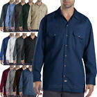 Dickies work shirts Mens LONG SLEEVE button front Shirt 574 S - 4X Solid Colors