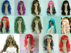 Mannequin WIG Hair Extensions Party WIG hair 50cm Long red pink purple blue