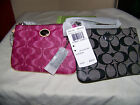 COACH PEYTON SIGNATURE SMALL WRISTLET NEW WITH TAGS IN BAG, BORDEAUX OR BLACK