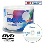 50-Pack SmartBuy Blank DVD+R DL 8X 8.5GB Dual Layer Logo Surface Recordable Disc