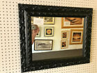 "NEW LARGE 3"" ORNATE BLACK SHABBY CHIC STYLE FRAMED OVERMANTLE WALL MIRROR"