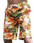 MENS HAWAII FLORAL CARGO BOARD SWIM SURF HOLIDAY SHORTS XS S M L XL XXL