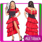 Spanish Mexican Flamenco Latin Dancer Costume Can Can Saloon Dancing Fancy Dress