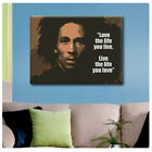 BIG Canvas Bob Marley Quote decor Inspiration GICLEE motivational Text wall art