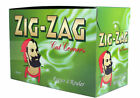 50/100ZIG ZAG GREEN CIGARETTE ROLLING PAPERS BOOKLETS