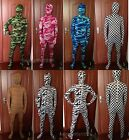 Halloween Lycra Spandex Party Zentai Costumes Camo Patterns Animals Bodysuit