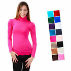 Women's Long Sleeved Shirt Stand Up Collar With Gathers Size S-xxl Body Top
