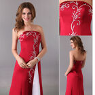 Vogue Long Women's Bridesmaid Party Ball Gown Evening Prom Pageant Dress Sz 6-20