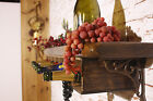 WINE SHELF WITH CAST IRON BRACKETS~SHABBY CHIC~RUSTIC STYLE~WALL HANGING~BAR PUB