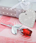 5,8,12, or 24  Crystal Red Rose Wedding Favours + Gift Box