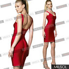 Celebrity Womens Sexy Backless Club Party Bandage Bodycon Wedding Dresses 102468