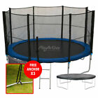 14FT Trampoline With FREE Safety Net Enclosure, Ladder, Rain Cover, + Shoe Bag