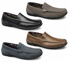 Roamers Mens Leather Nubuck Comfy Slip-On Casual Moccasin Driving Loafers Shoes