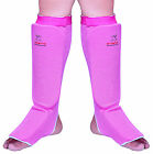 Evo Ladies Pink MMA Shin Insteps guards Martial arts Kick Boxing Muay Thai Pads