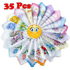 New Hot Ladies Retro Vintage Assort 100% Cotton Flower Embroidered Handkerchiefs