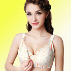 Comfort Fit Cotton Nursing Bra Full Cup Front Buckle Popper Non-wired Maternity